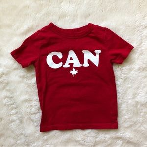 Red OshKosh Canada T-Shirt Size 2T